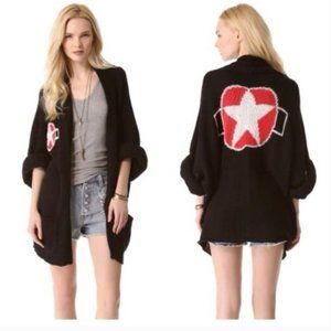 Wildfox White Label Army Girl Slouchy Cardigan